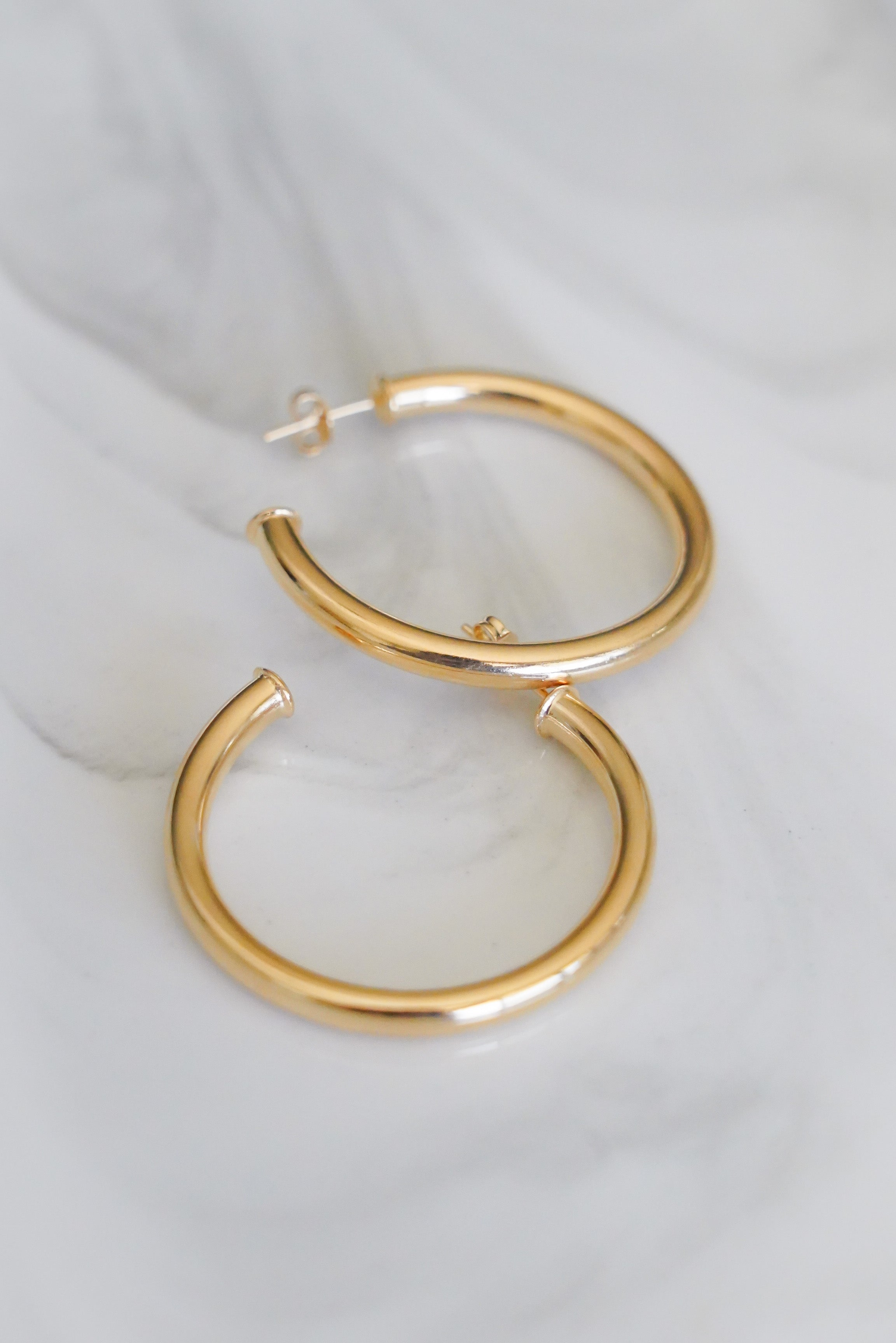gold hoop earring - small