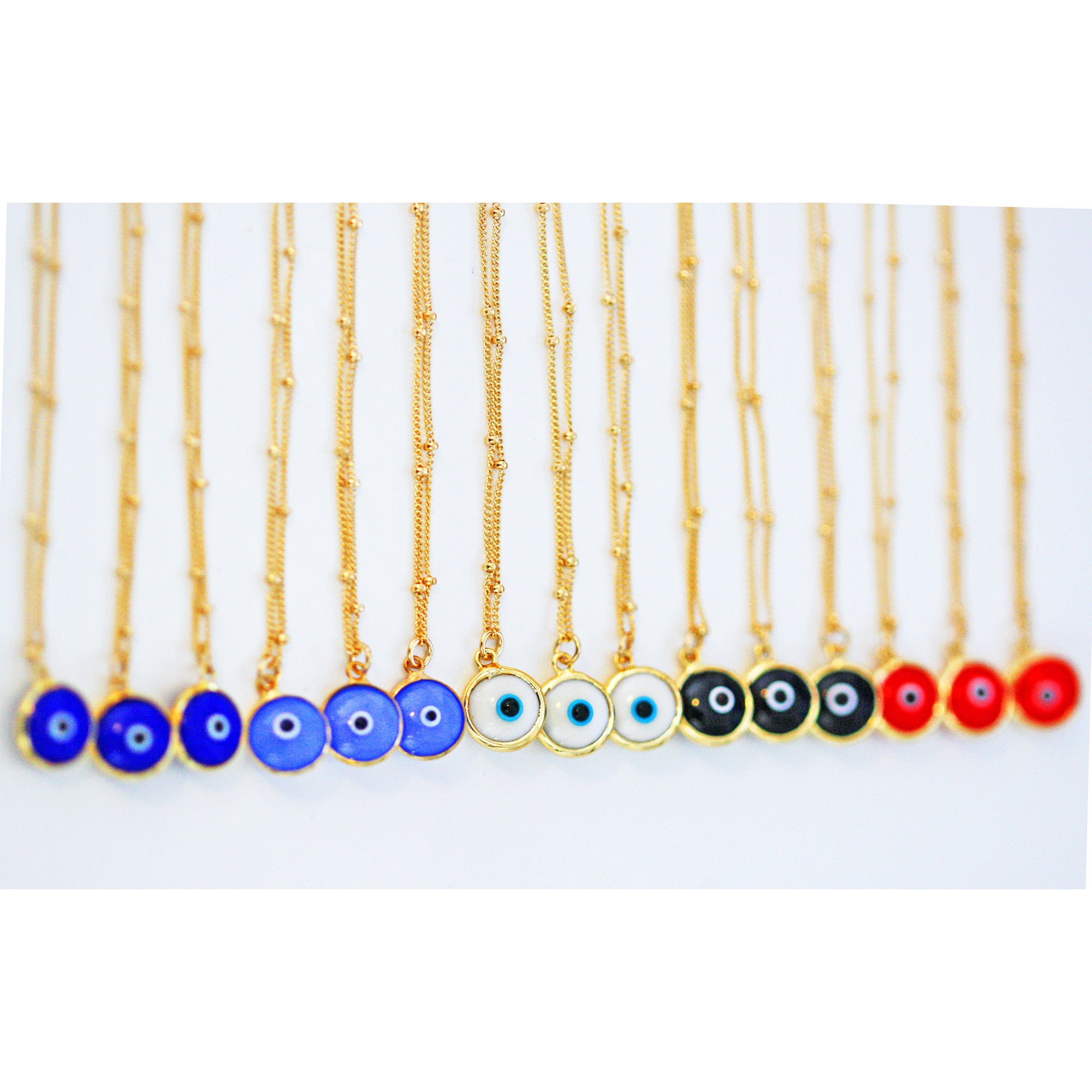 evil eye necklace - white