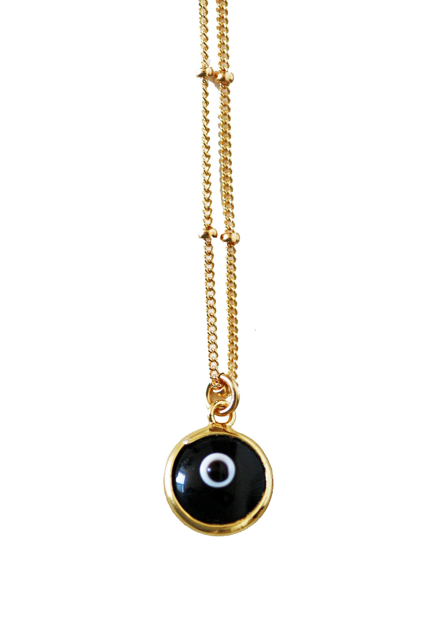 evil eye necklace - BLACK
