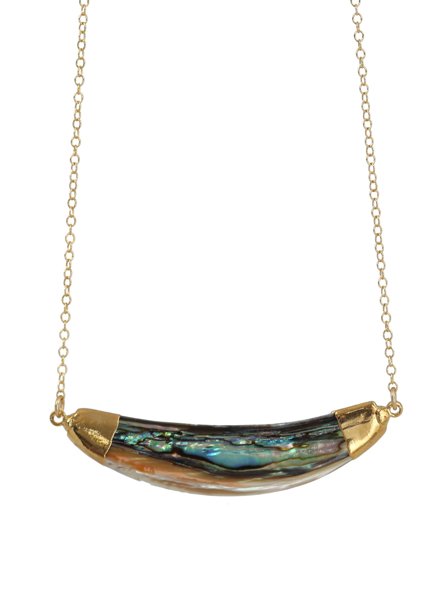 ABALONE curve necklace