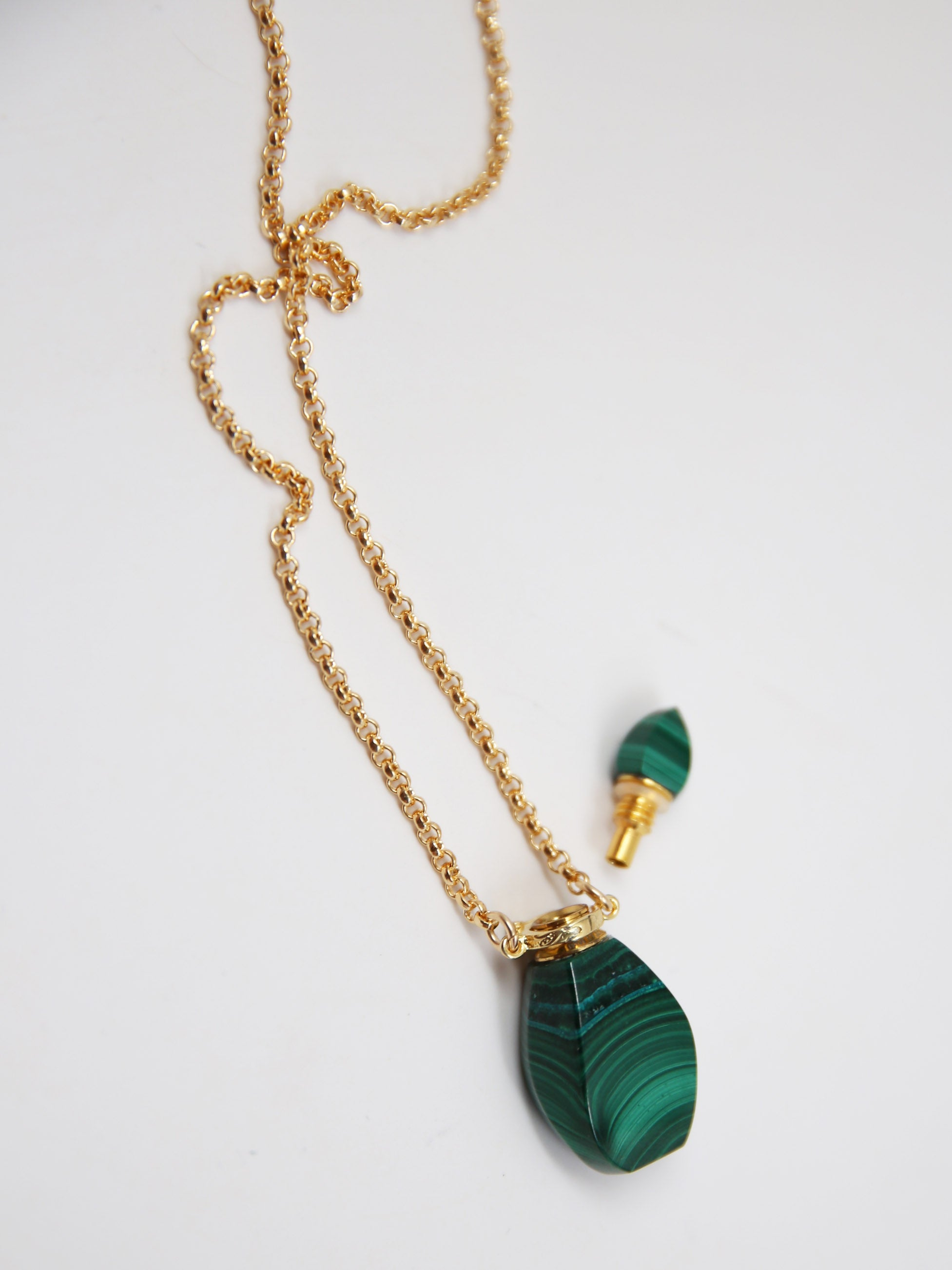 potion necklace - malachite