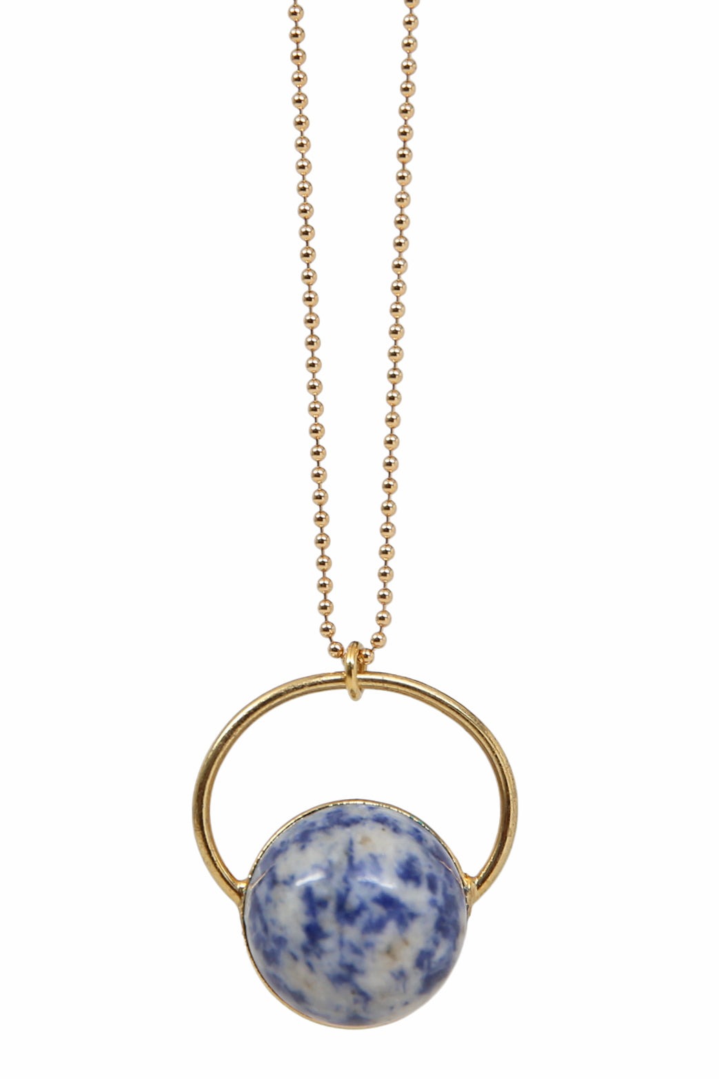 globe necklace - sodalite