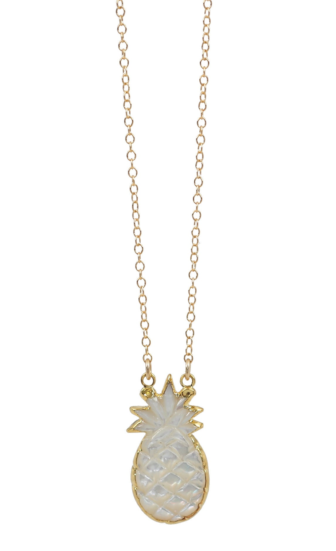 mother of pearl piña necklace
