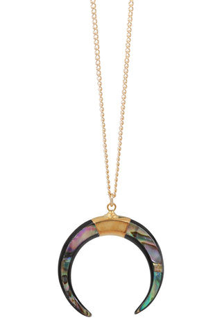 luna necklace - paua