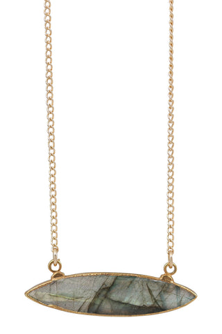 elongated gold chain choker
