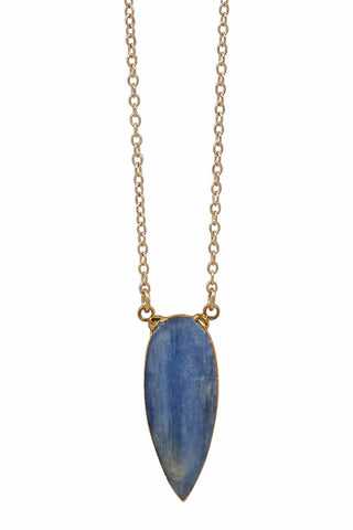 kyanite tear necklace