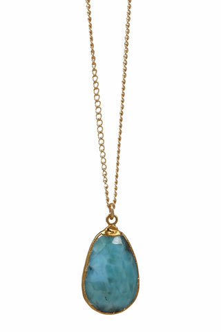 mystic moonstone necklace - dark blue