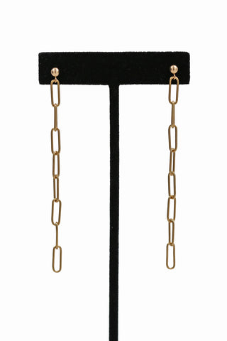 elongated link earrings