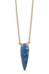 lapis jean tear necklace - small
