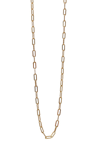 gold chain necklace - elongated