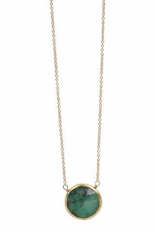 emerald coin necklace