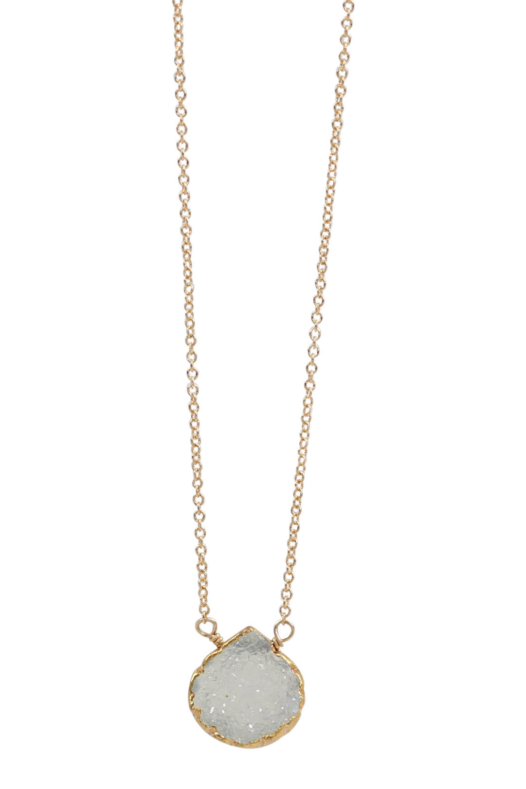 druzy necklace - light aqua