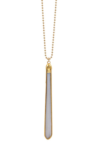 mother of pearl vertical necklace