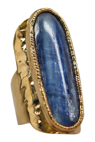kyanite cuff ring