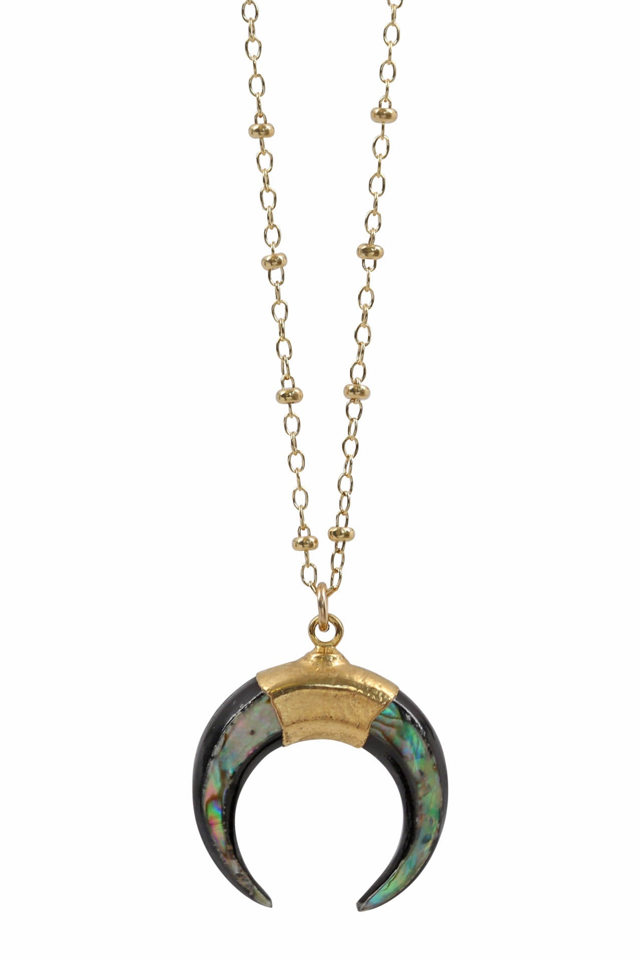 luna necklace - paua - small