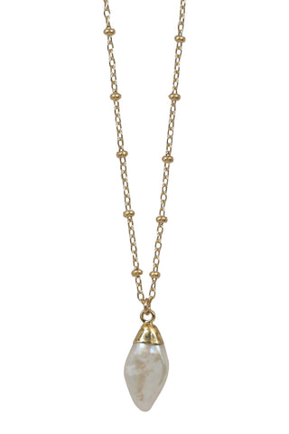 pearl diamante necklace