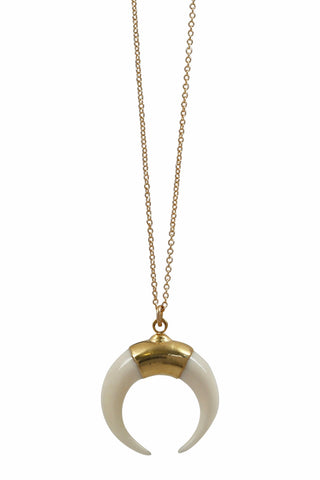 luna mini necklace - white