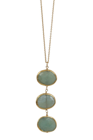 trio necklace - chrysoprase