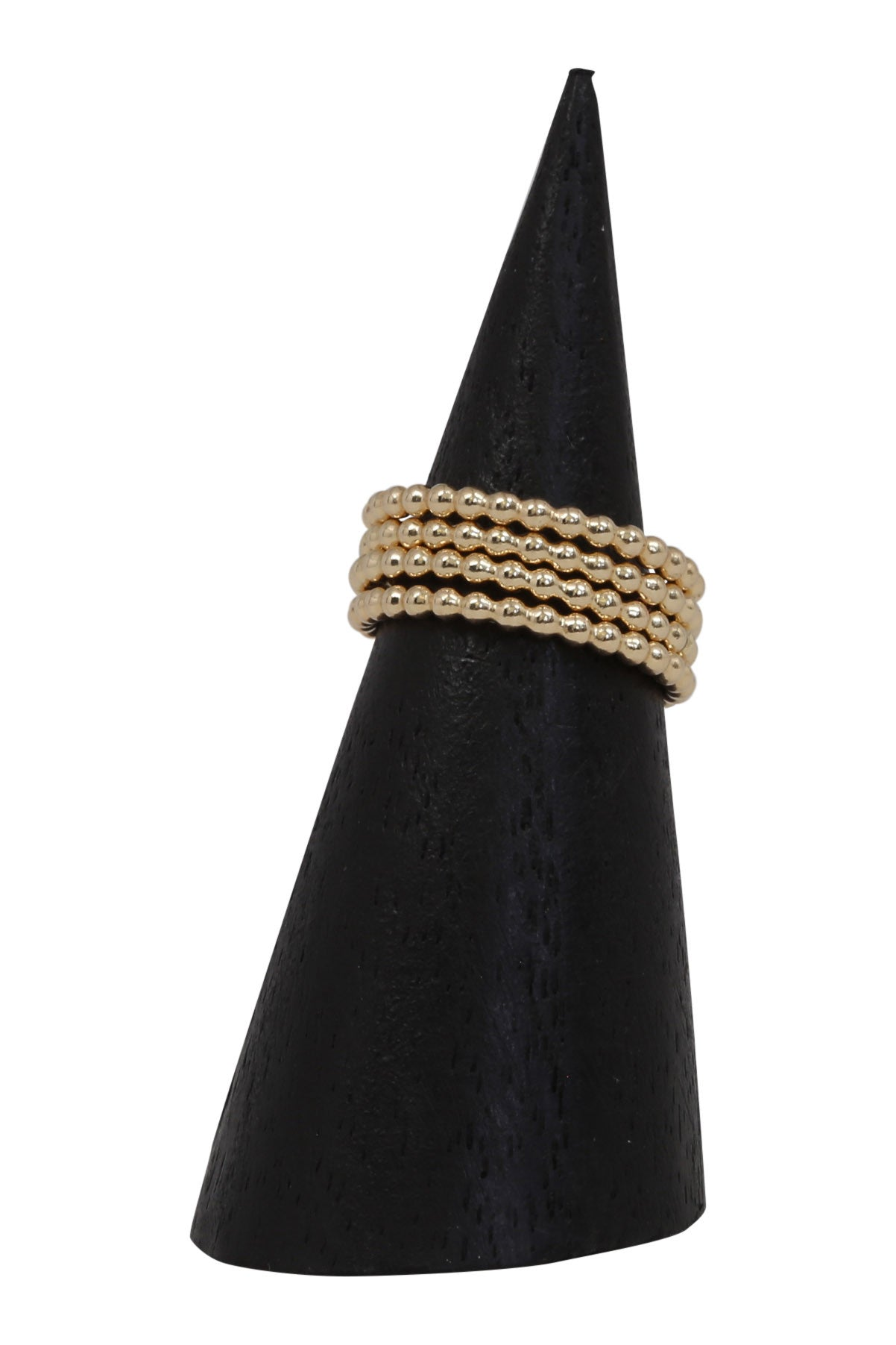 gold beaded ring