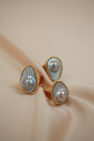 pearl jacket earrings