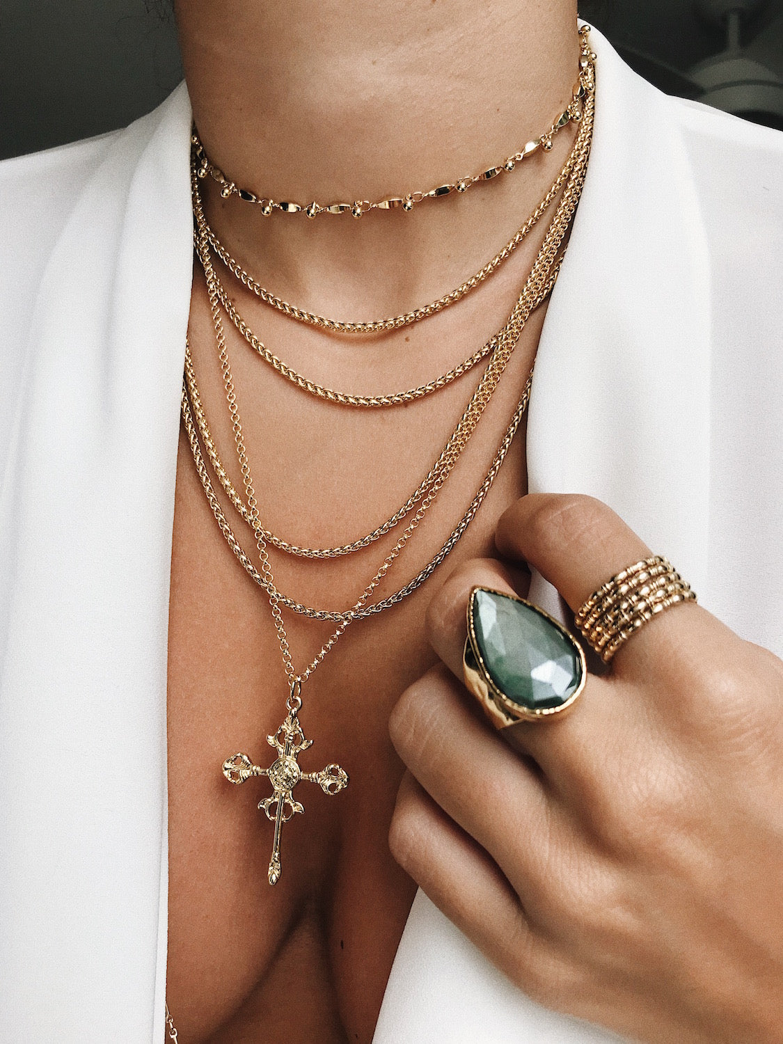 roma cross necklace