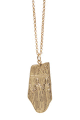 benedict freeform medallion necklace