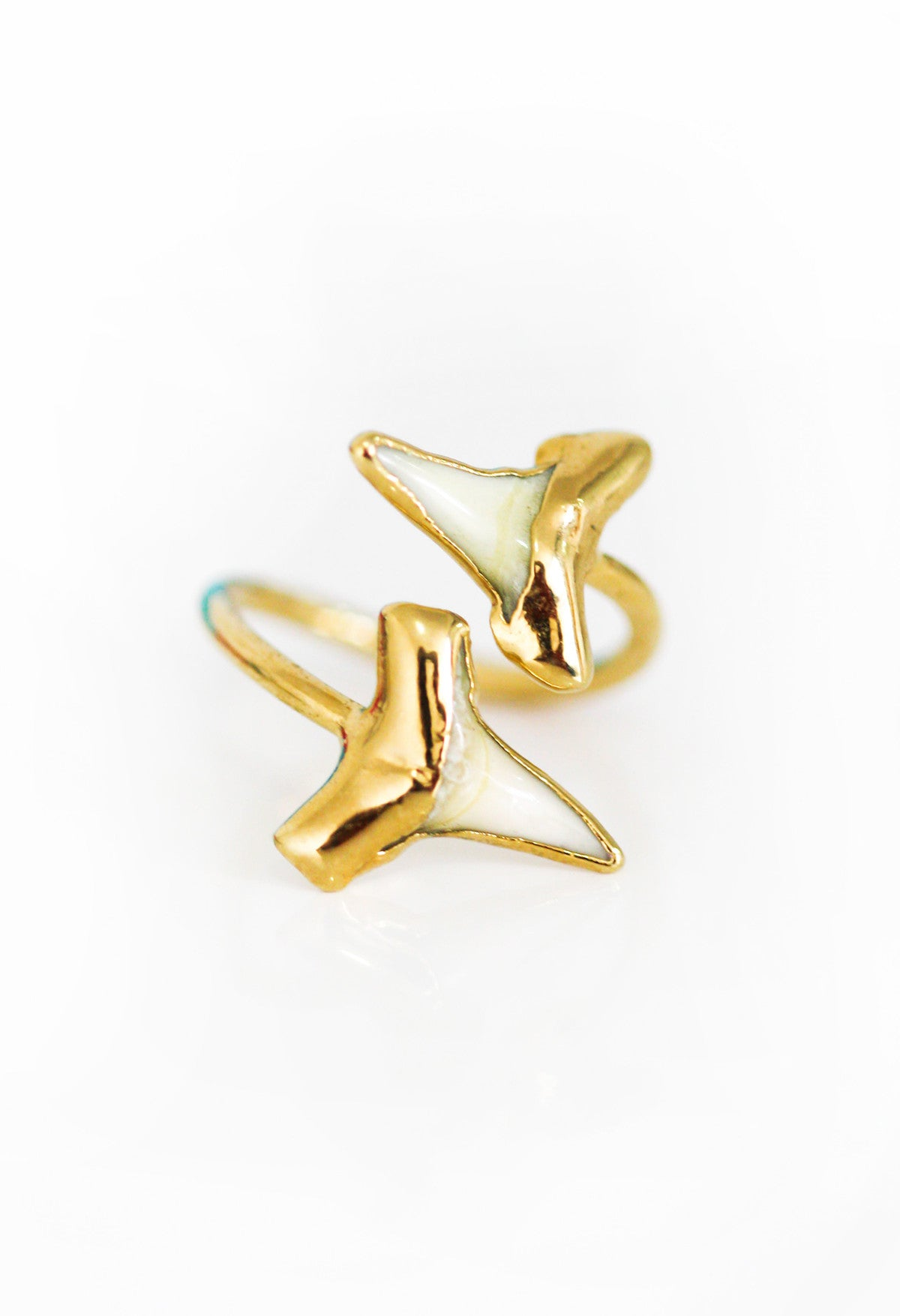 DUO shark tooth ring