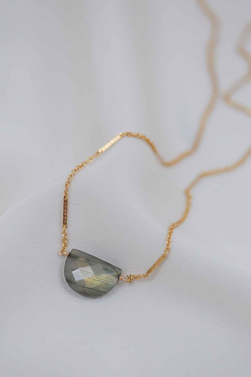 labradorite moon necklace