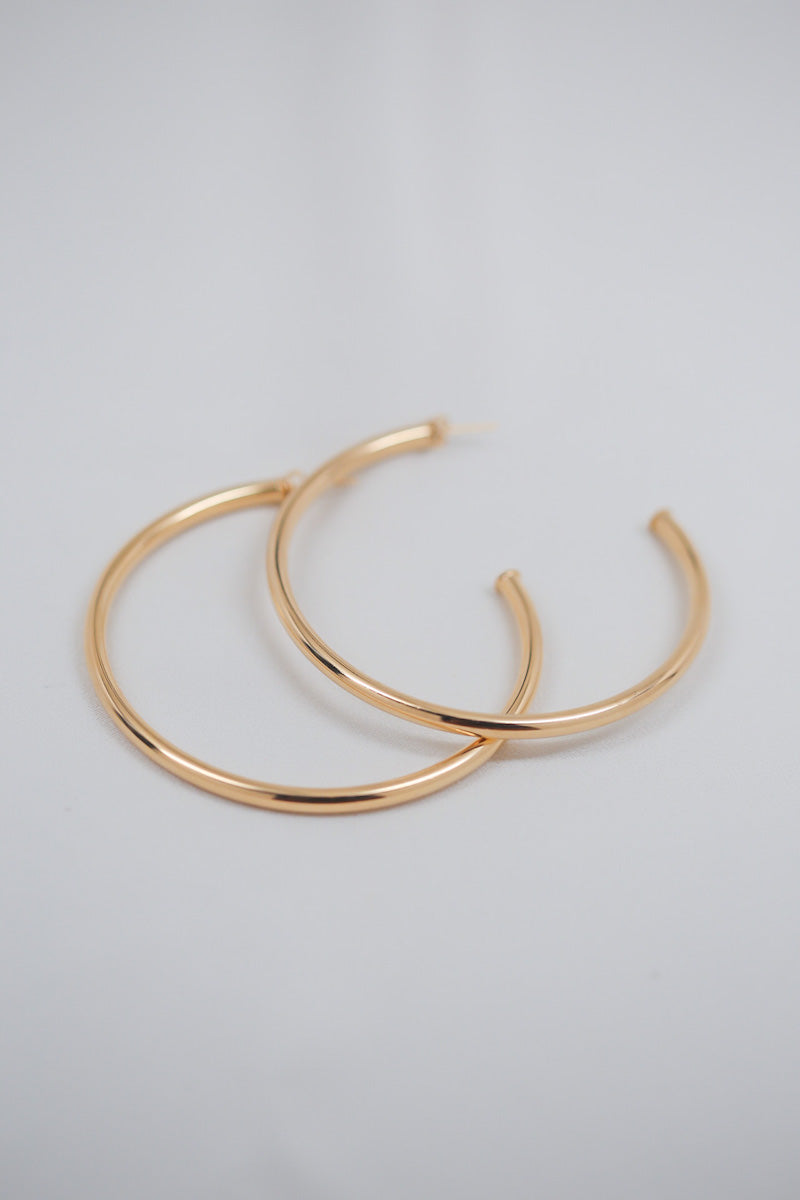 gold hoop earring - XL