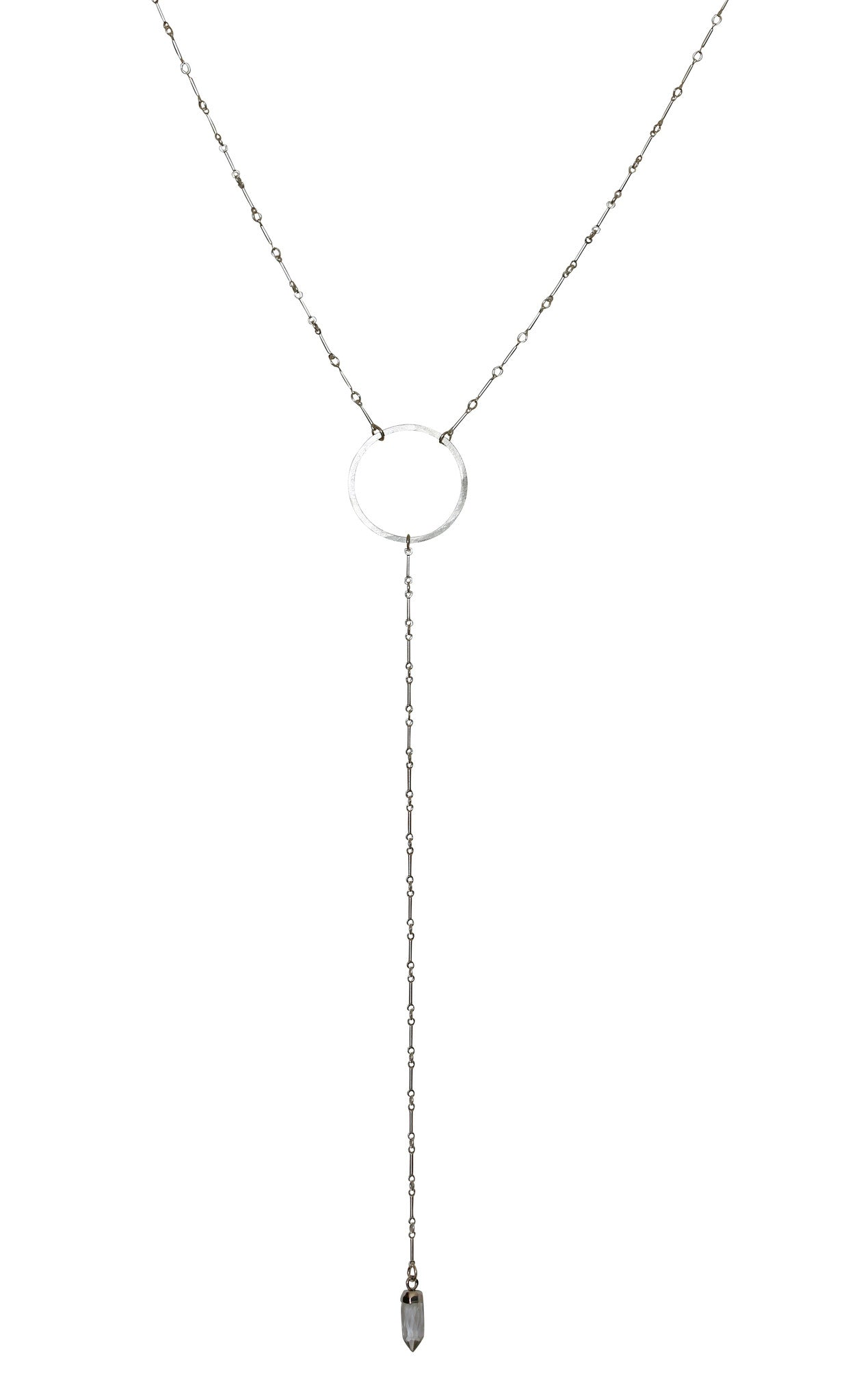 silver hammered circle lariat