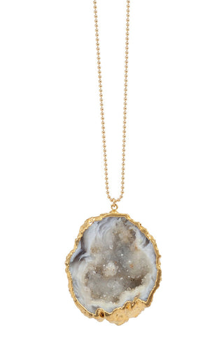 agate geode necklace - occo