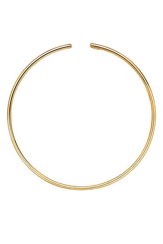 gold disk choker necklace