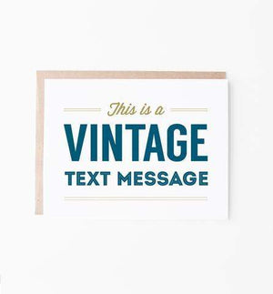 Greeting Card - Vintage Text Message