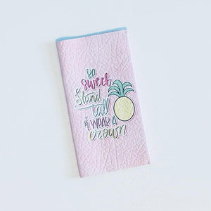 Leather Hobonichi Cover - Be Sweet Stand Tall