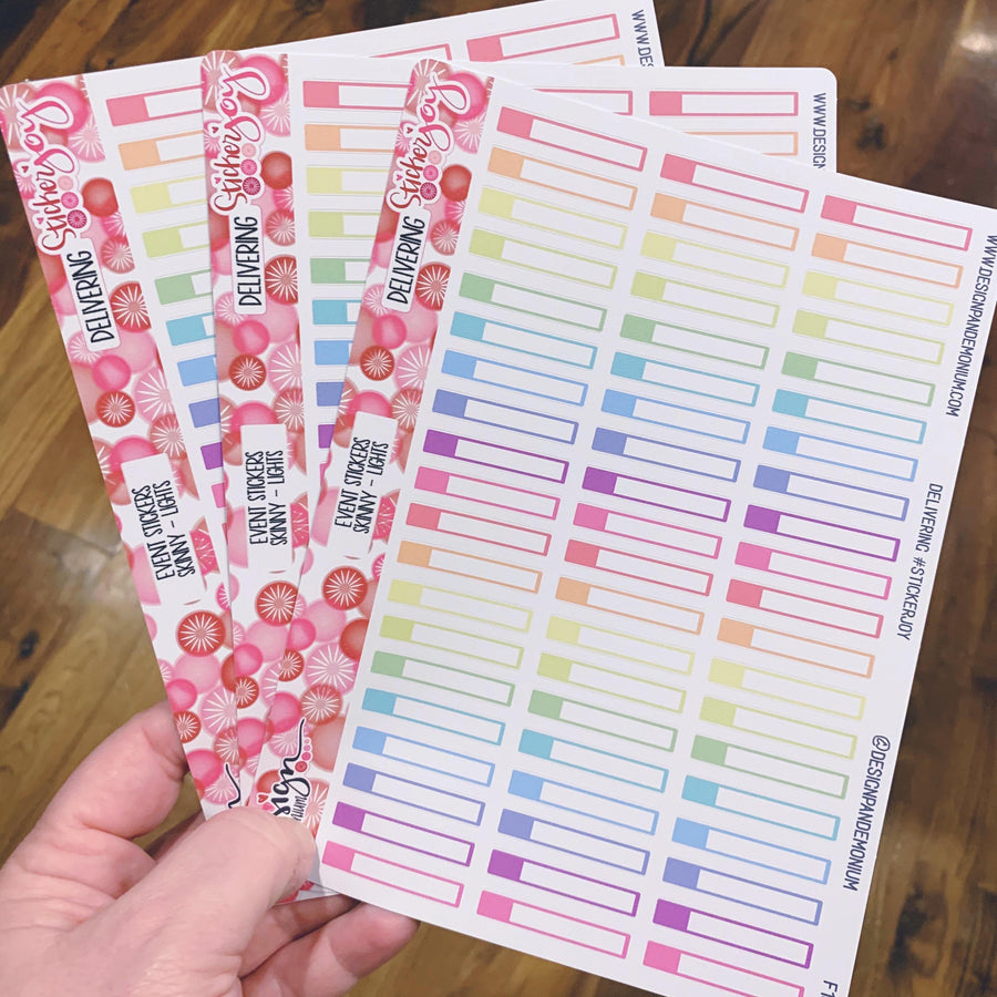 Skinny Event Stickers - Sampler