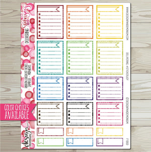 Ribbon Checklist Box - Sampler