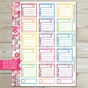 Ribbon Checklist Box - Half Box