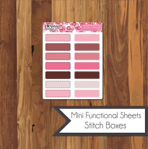 Functional Mini Sheets - Stitch Boxes