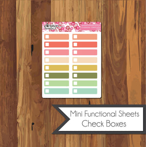 Functional Mini Sheets - Check Boxes