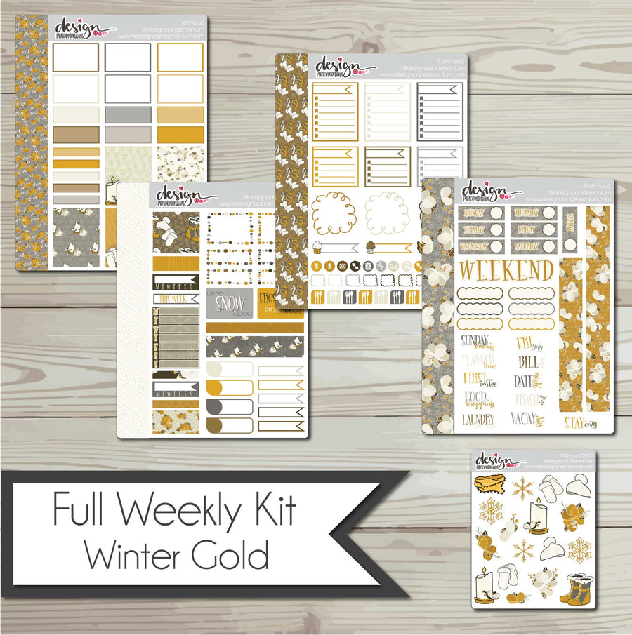 Full Weekly Kit - Winter Gold