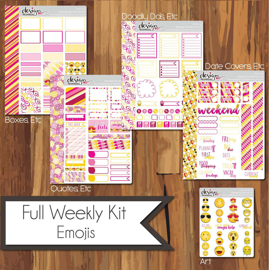 Full Weekly Kit - Emoji