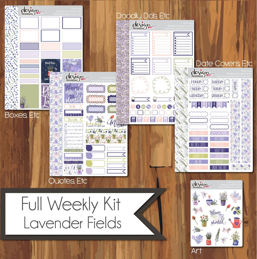 Full Weekly Kit - Lavender Fields