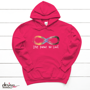 Love Knows No Limit - Autism Acceptance - Pullover Hoodie
