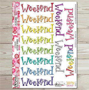 LetterJOY - Weekend Banner Sticker Sampler