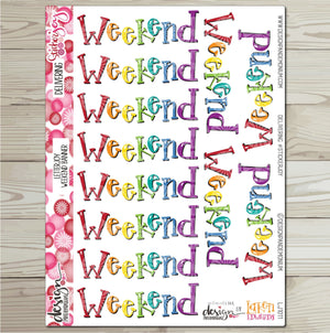 LetterJOY - Weekend Banner Sticker Sampler - Rainbow