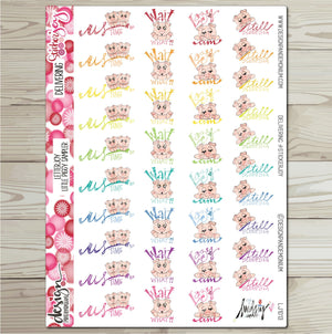LetterJOY - This Little Piggy Sticker Sampler
