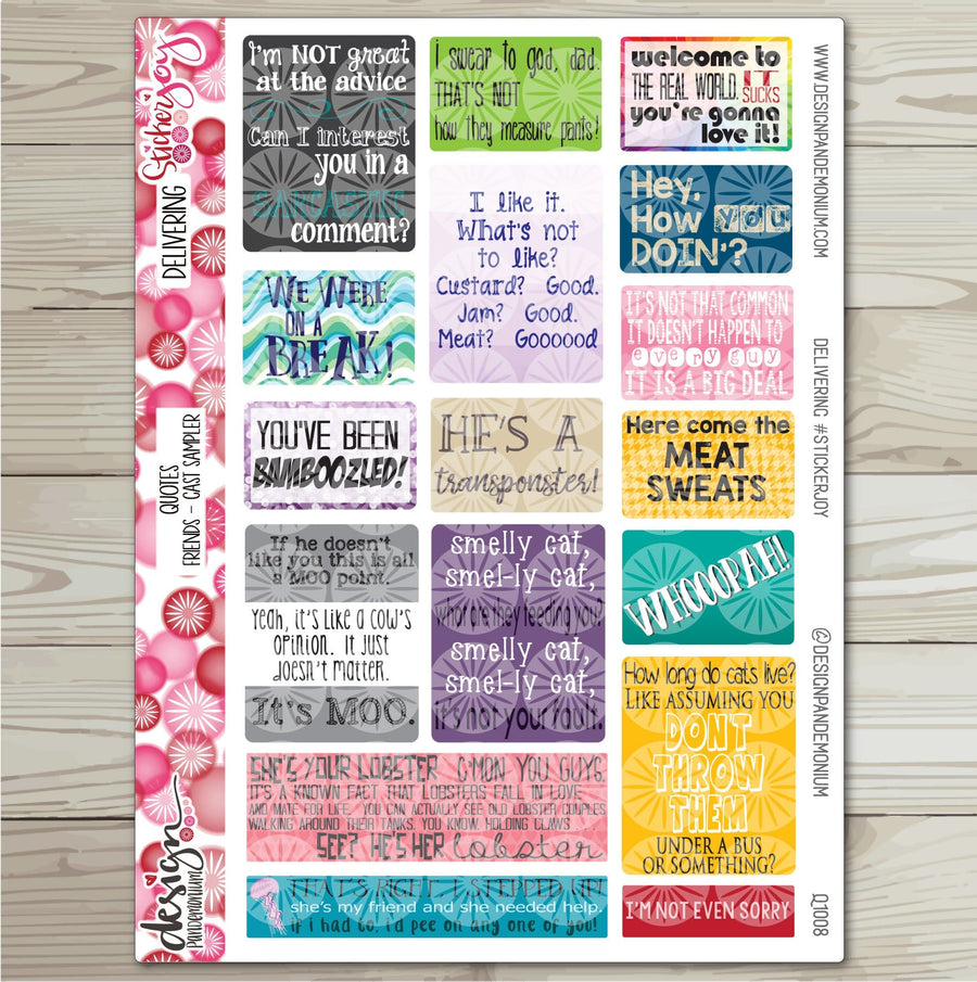 Quotes - FRIENDS Cast Sampler