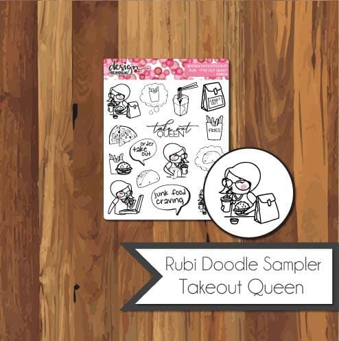 Rubi Doodle Sampler - Take Out Queen