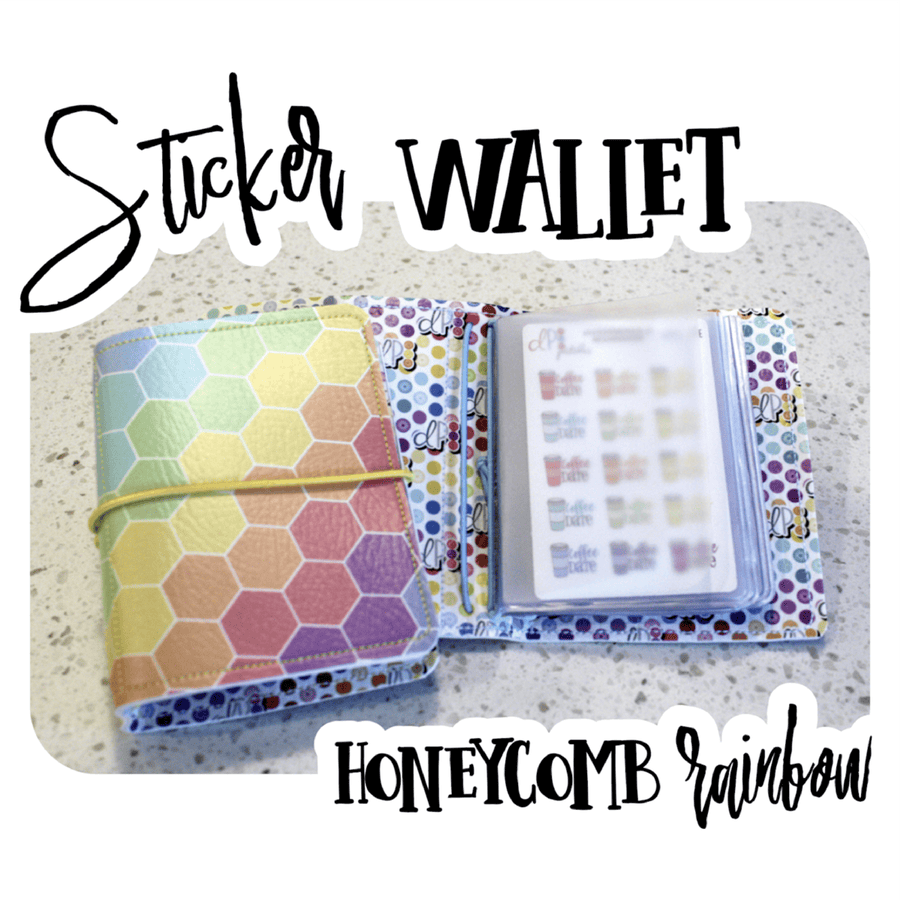 Sticker Wallet - Honeycomb Rainbow