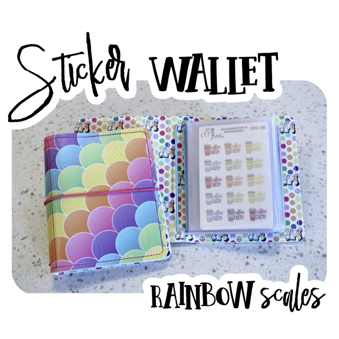 Sticker Wallet - Rainbow  Scales